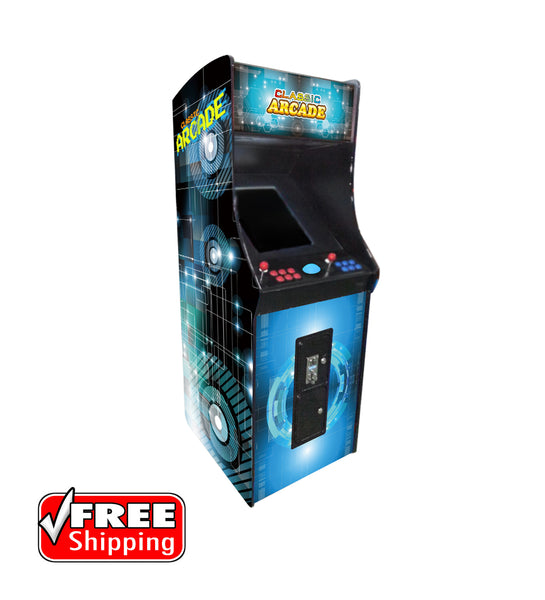 Full-Sized Upright Arcade Game With Trackball feat. 2,100 Games!