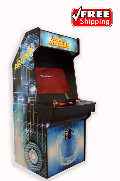 Full-Sized Two Player Upright Arcade Game With Trackball feat. 3,000 Games