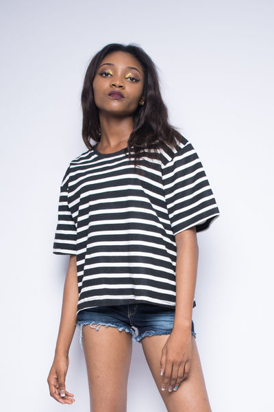 Hue Stripped Oversize Tee