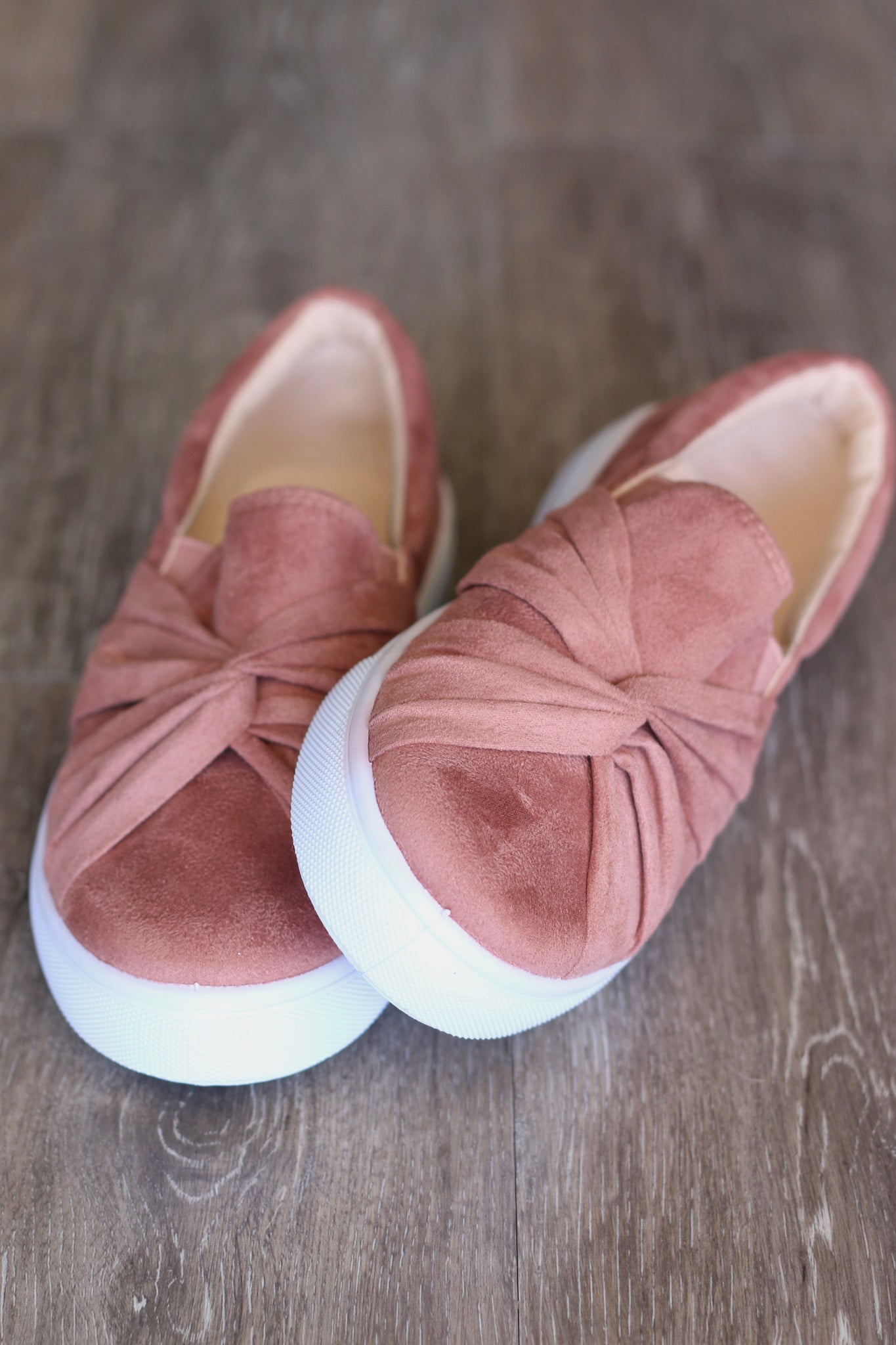 Knotted Slip-ons (Mauve)