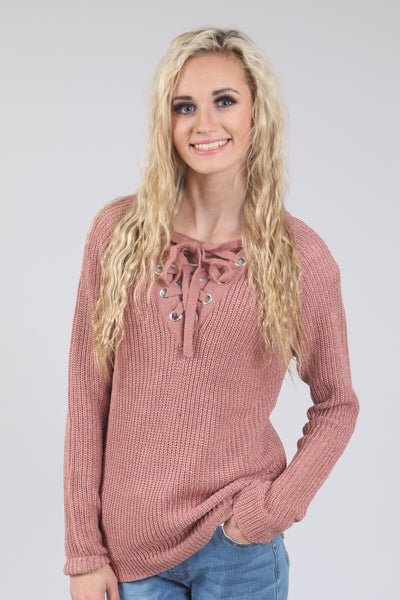 Crochet V-Neck Sweater