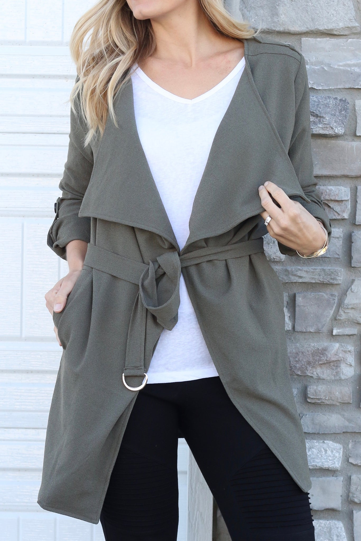 Olive Trench Jacket