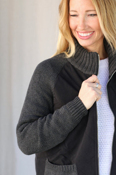 Jacket with Sweater Sleeves