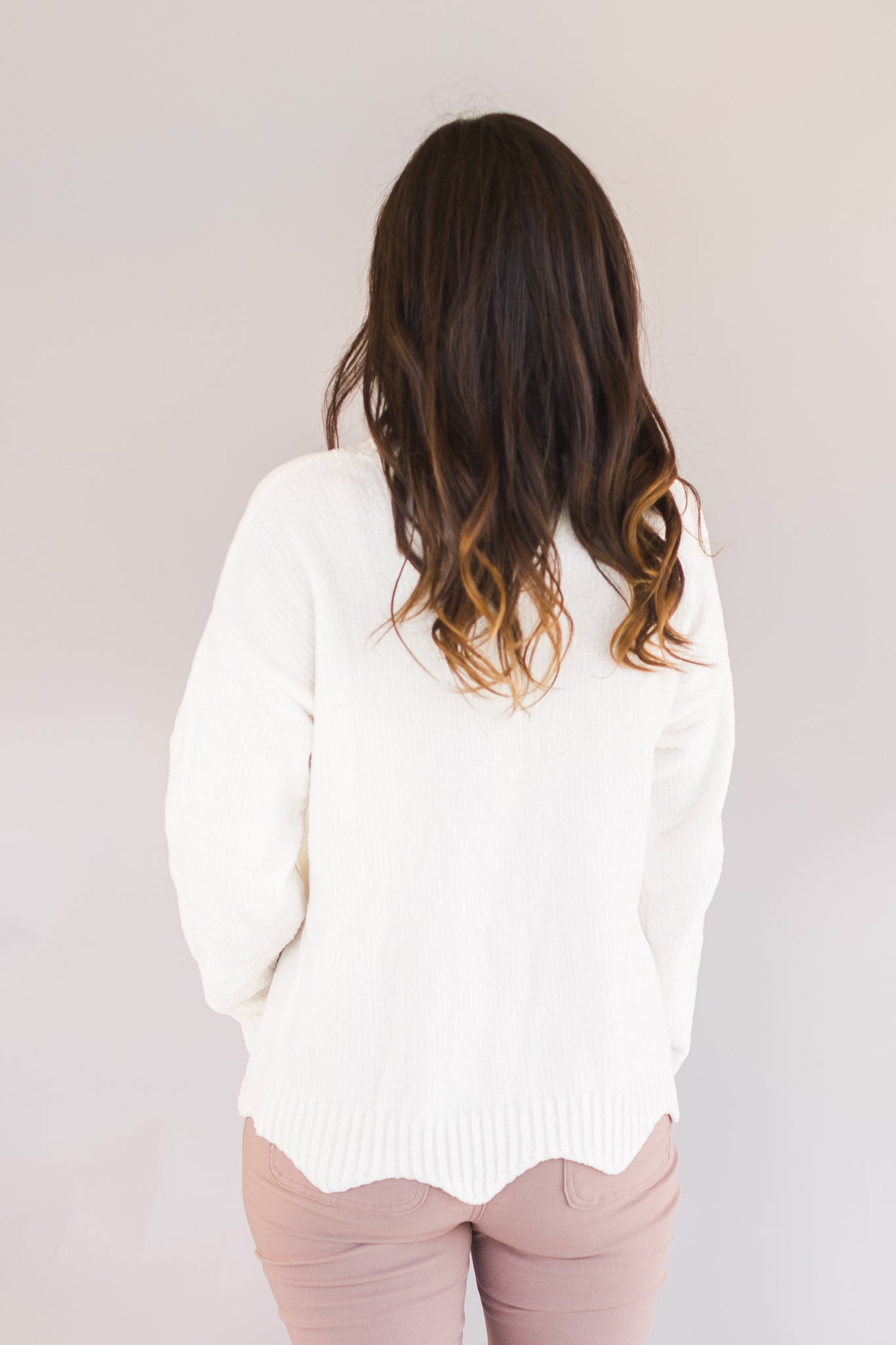 Ultra-Soft Scalloped Sweater