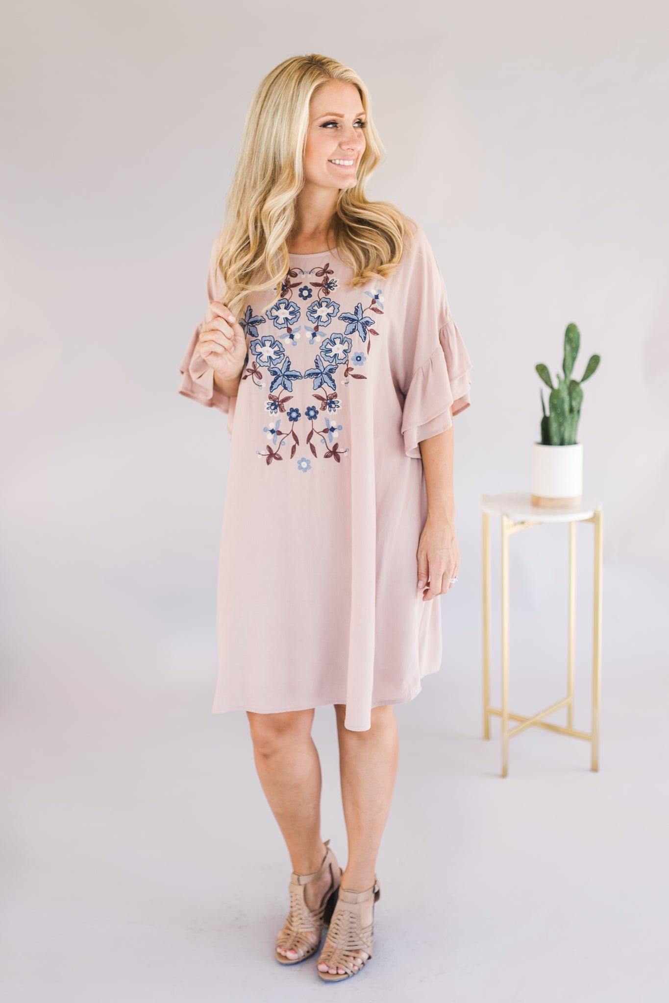 Embroidered Dress (2 Colors)