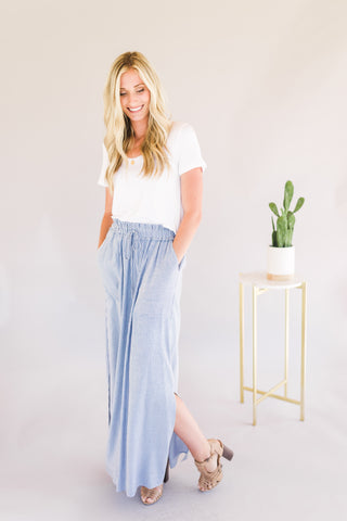 Maxi Skirt with Front Pockets