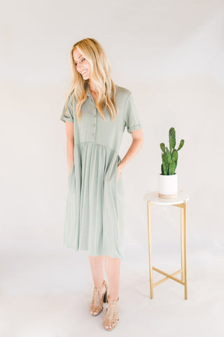 Babydoll Midi Dress