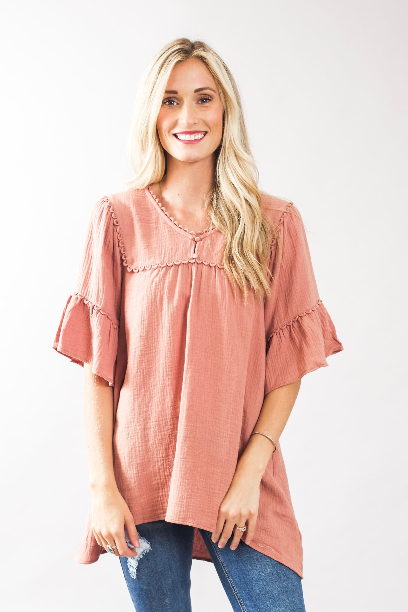 Woven Tunic Top (2 Colors)