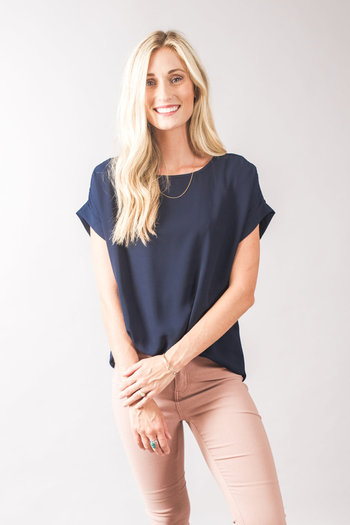 Cuff Sleeve Top (3 Colors)