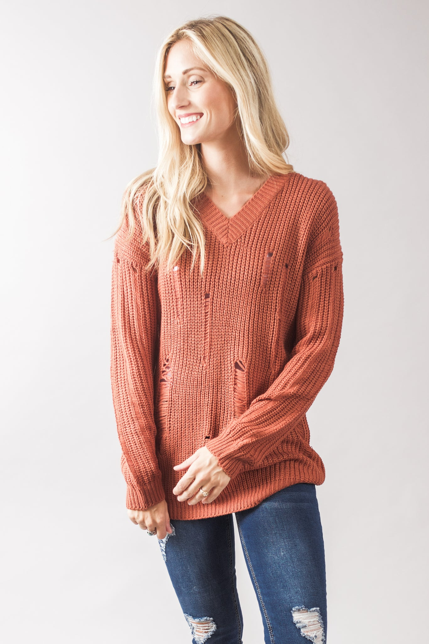 Distressed Sweaters (2 Colors)
