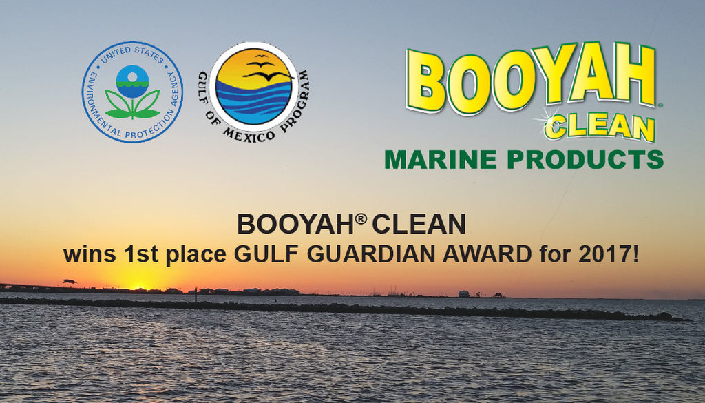 BOOYAH CLEAN wins 1st place 2017 Gulf Guardian Award
