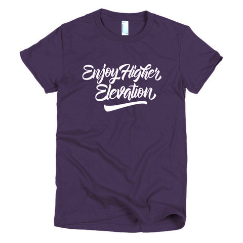 Women's Elevation Type T-Shirt | Purple/White
