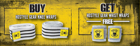 Free Wrist wraps with Purchase of Knee wraps Hostyle Gear