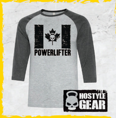 Canadian Powerlifter Mens Baseball Tee Hostyle Gear