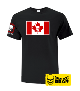 Iron Hos Canadian Flag - Ladies T Shirt Black