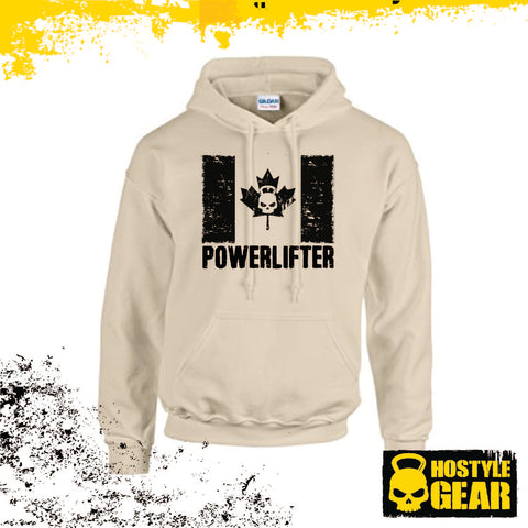 Hostyle Gear Canadian Powerlifter HOODIE Sand Style