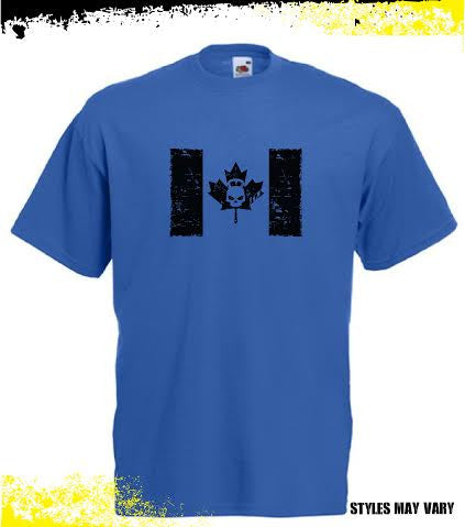 Hostyle Canada Flag Men's Blue T shirt