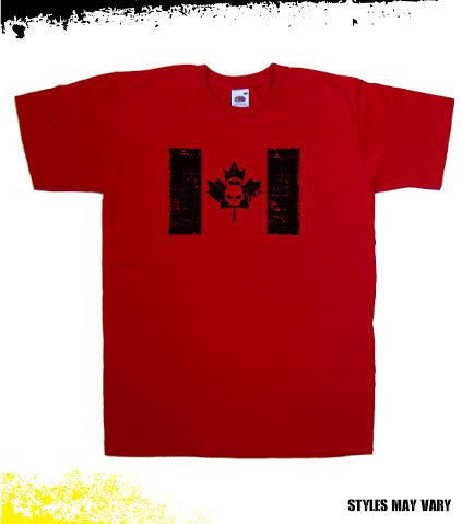 Hostyle Canada Flag Men's Red T shirt