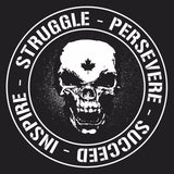 Hardcore  Struggle - Persevere - Succeed - Inspire 5 x 5 Banner