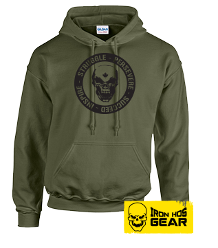 Hardcore Iron Hos Gear - Struggle Formula  - Military Green Hoodie