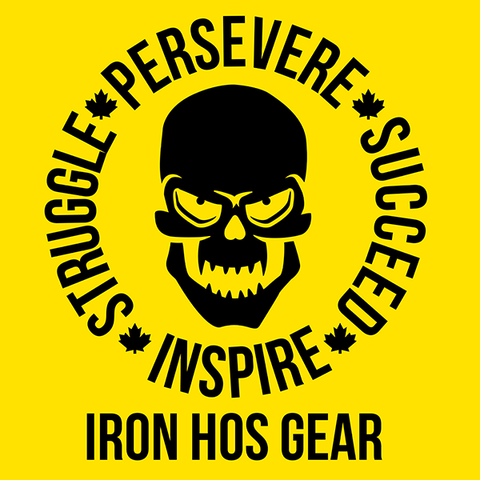 Struggle - Persevere - Succeed - Inspire Yellow Banner