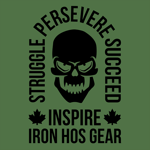Struggle - Persevere - Succeed - Inspire Military Green Banner