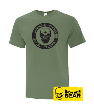 Hardcore Iron Hos Gear - Struggle Formula  - Military Green T shirt