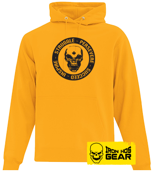 Hardcore Iron Hos Gear - Struggle Formula  - Yellow Hoodie