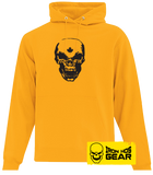 New Hardcore Iron Hos Gear Skull - Yellow Hoodie