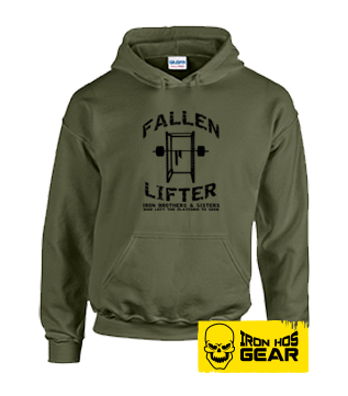 Fallen Lifter - Brothers and Sisters who left the Platform too Soon - Military Green Hoodie