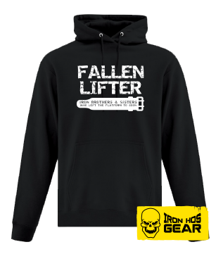 Fallen Lifter - Brothers and Sisters who left the Platform too Soon - Belt - Black Hoodie