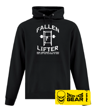 Fallen Lifter - Brothers and Sisters who left the Platform too Soon - Black Hoodie