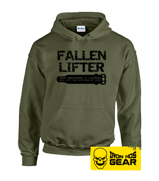 Fallen Lifter - Brothers and Sisters who left the Platform too Soon - Belt - Military Green Hoodie