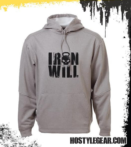 Iron Will T Grey Premium Hoodie from Hostyle Gear