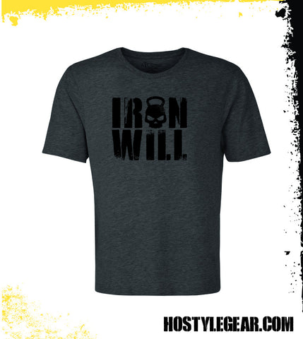 Iron Will T shirt from Hostyle Gear Dark Grey