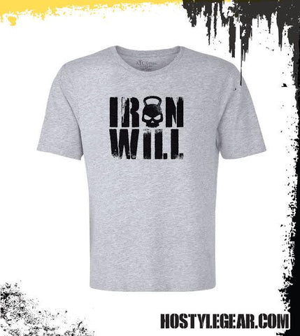 Iron Will T Grey shirt from Hostyle Gear