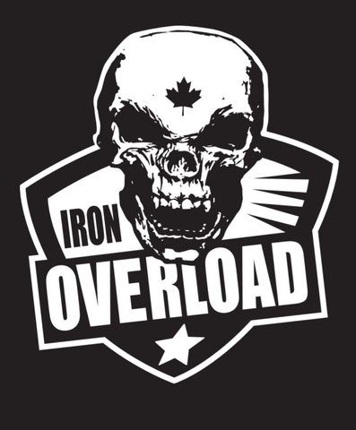 Hardcore Iron Hos Gear - IRON OVERLOAD -Military Green Hoodie