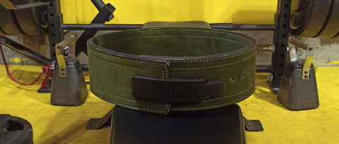 Military Green Lever Action Belt 10mm from Iron Hos Gear