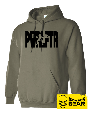 Canadian Powerlifter - The Squatter - Military Green Hoodie