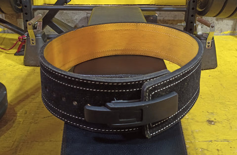 Black and Yellow Lever Action Belt 10mm from Iron Hos Gear