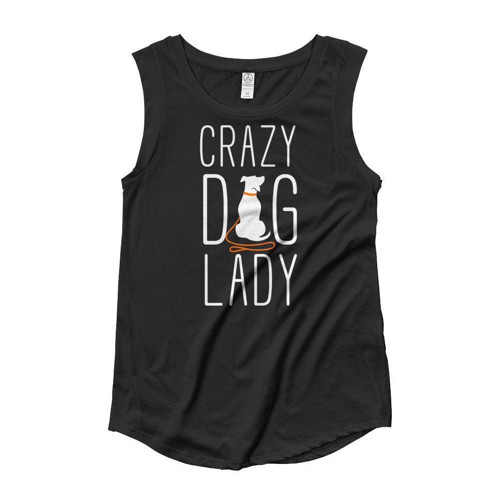 Crazy Dog Lady Ladies' Cap Sleeve T-Shirt