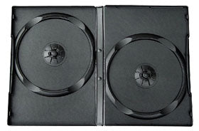 DVD Black Double Case 14mm Offset With Full Sleeve - 100 Pack