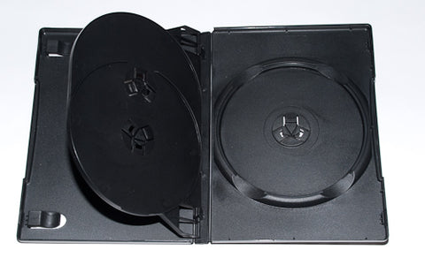 DVD Black Triple 14mm Case - 100 Pack