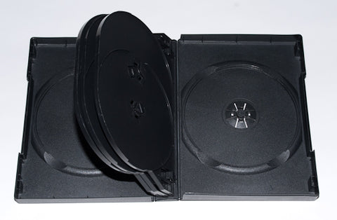 DVD Black 8 Disc Case 27MM With Full Sleeve - 80 Pack