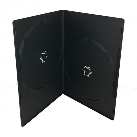 SLIM DOUBLE DVD CASE BLK - 200 Pack