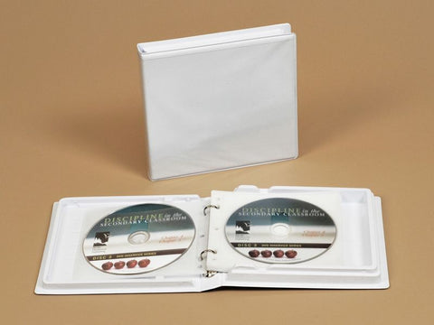 White Thermoformed 12 Disc Empty Case