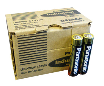AAA Panasonic Industrial Batteries - 24 Pack