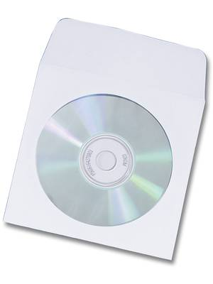 White Paper Sleeve with Window and Flap - 100 Pack