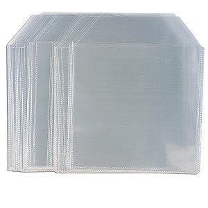 Clear Vinyl CD/DVD Envelope With Flap - 100 PK
