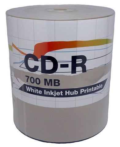 PiData CD-R White Inkjet Hub Printable - 100 Pack